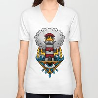 lighthouse V-neck T-shirts featuring Lighthouse by hvelge