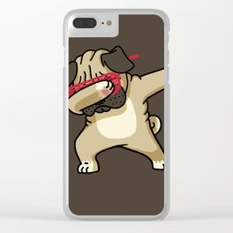 Dabbing Pug Clear iPhone Case