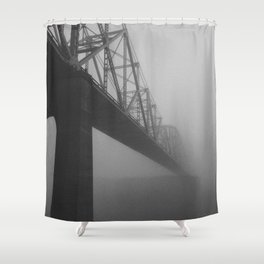 The Bridge and the Mist Shower Curtain