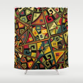African Traditional Fabric Patterns Shower Curtain