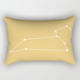 Leo Zodiac Constellation - Golden Yellow Rectangular Pillow