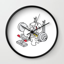 """""""Cracked Egg"""" tee design. Unique and one of a kind gift perfect for this seasons of giving!  Wall Clock"""