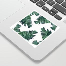 Banana Leaf Watercolor #society6 #buy #decor Sticker