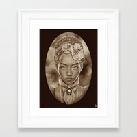 "victorian Framed Art Prints featuring ""VICTORIAN GHOST"" by Giulio Rossi"