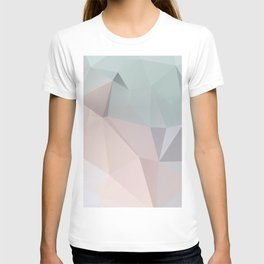 Pastel 2 – poster minimal, pure, creme beige art, rose blue nude art, geometric, scandinavian art T-shirt