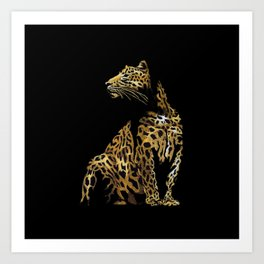Leopard in the darkness Art Print