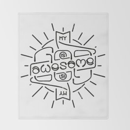 God is Awesome Ambigram Throw Blanket