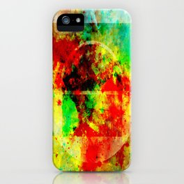 Subtle Form - Abstract colour painting iPhone Case