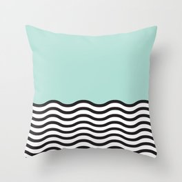 Waves of Green Throw Pillow