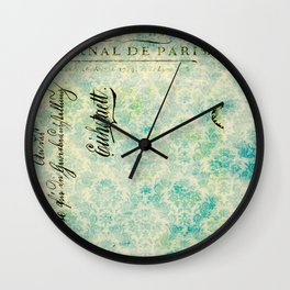 Grunge Damask Wall Clock