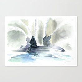 Swann Fountain Canvas Print