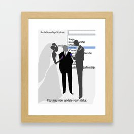 You May Now... Framed Art Print