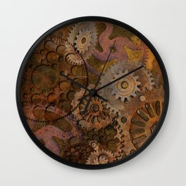 Changing Gear - Steampunk Gears & Cogs Wall Clock