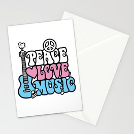 Peace-Love-Music Stationery Cards