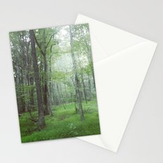 Foggy Forest Landscape Photo Stationery Cards