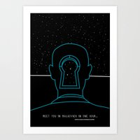 Meet you in Malkovich in one hour Art Print