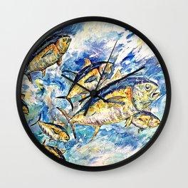Golden Tuna Wall Clock