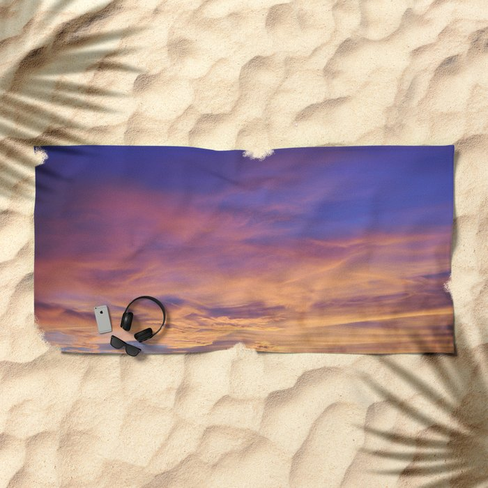 COME AWAY WITH ME - Autumn Sunset #1 #art #society6 Beach Towel