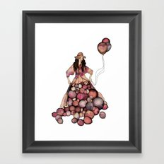 Le Ballon // Birthday Framed Art Print