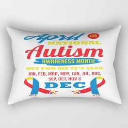 Autism Awareness Day Support Asperger Child Gift Rectangular Pillow