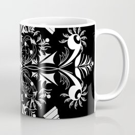 White Chess Inspired Queenly Motif Coffee Mug
