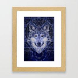 Wolf Geometry Framed Art Print