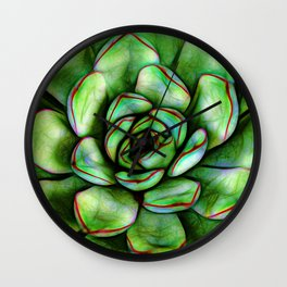 Graphic Succulent Wall Clock