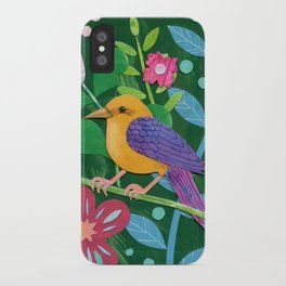 Tropical bird iPhone Case