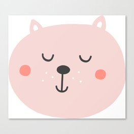 Baby Bear | Smiling Critter Canvas Print