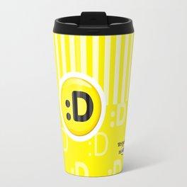Yellow Writer's Mood Travel Mug
