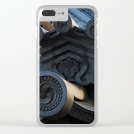 Japanese traditional temple roof Clear iPhone Case
