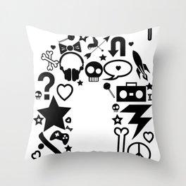 makin it rain Throw Pillow