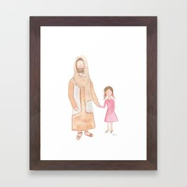 Jesus with Girl Framed Art Print