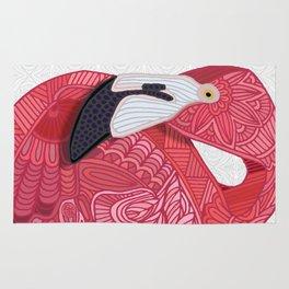 Pink Flamingos 2016 (white) Rug