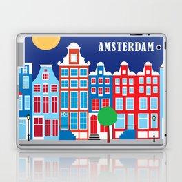Amsterdam, Netherlands - Skyline Illustration by Loose Petals Laptop & iPad Skin