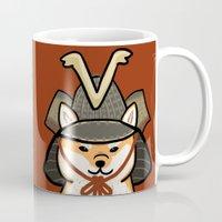 shiba Mugs featuring Shiba Inu by FluffyMafi