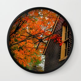 Autumn at the Window Wall Clock