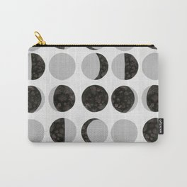 Moon Phases - White Carry-All Pouch
