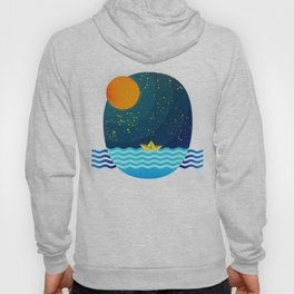 035 Owl's egg travelling the sea at night Hoody