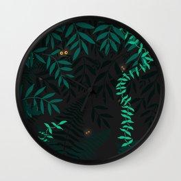 Rainforest at night Wall Clock