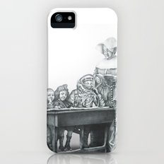 In which a cosmonaut is rendered quizzical iPhone (5, 5s) Slim Case