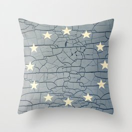 EU Cracking Throw Pillow