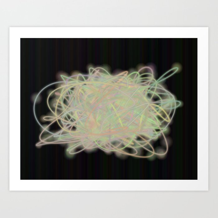 Electric Yarn Ball Art Print