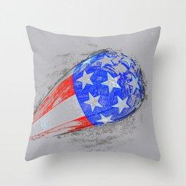 1960s American flag tank original work Throw Pillow