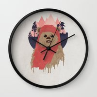 ewok Wall Clocks featuring Ewok by Robert Scheribel