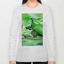 Peek  A Boo frog Long Sleeve T-shirt