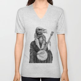 Vulture Banjo by Pia Tham Unisex V-Neck