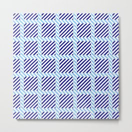 optical pattern 70 blue Metal Print