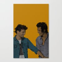 larry stylinson Canvas Prints featuring Pop Art Larry Stylinson 2 by JodiYoung