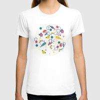 garden T-shirts featuring Garden Birds by Anna Deegan